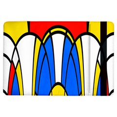 Colorful Distorted Shapesapple Ipad Air Flip Case