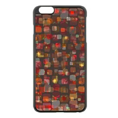 Floating squares Apple iPhone 6 Plus Black Enamel Case