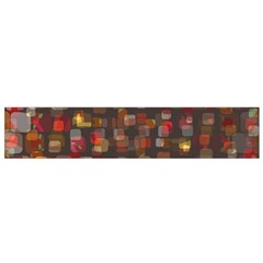 Floating squares Flano Scarf