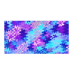 Blue and Purple Marble Waves Satin Wrap