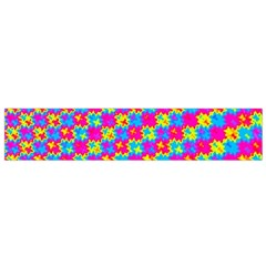 Crazy Yellow and Pink Pattern Flano Scarf (Small)