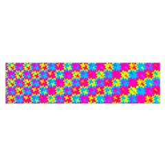 Crazy Yellow And Pink Pattern Satin Scarf (oblong)