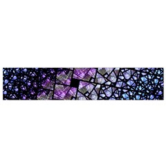Dusk Blue and Purple Fractal Flano Scarf (Small)