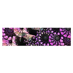Hippy Fractal Spiral Stacks Satin Scarf (Oblong)