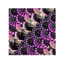 Hippy Fractal Spiral Stacks Small Satin Scarf (Square)