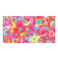 Hippy Peace Swirls Satin Shawl