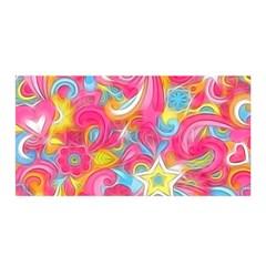 Hippy Peace Swirls Satin Wrap