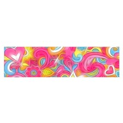Hippy Peace Swirls Satin Scarf (Oblong)