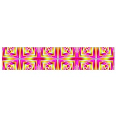 Pink and Yellow Rave Pattern Flano Scarf (Small)