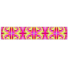 Pink And Yellow Rave Pattern Flano Scarf (large)