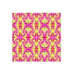Pink and Yellow Rave Pattern Satin Bandana Scarf