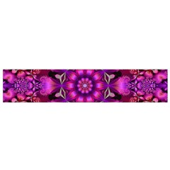 Pink Fractal Kaleidoscope  Flano Scarf (Small)