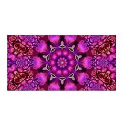 Pink Fractal Kaleidoscope  Satin Wrap