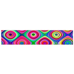 Psychedelic Checker Board Flano Scarf (Small)