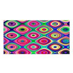 Psychedelic Checker Board Satin Shawl