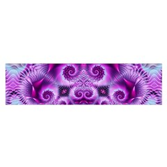 Purple Ecstasy Fractal Satin Scarf (Oblong)