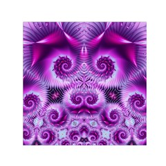Purple Ecstasy Fractal Small Satin Scarf (Square)