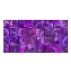 Purple Squares Satin Shawl