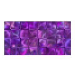 Purple Squares Satin Wrap