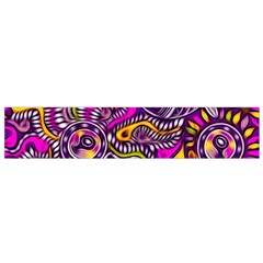 Purple Tribal Abstract Fish Flano Scarf (Small)