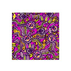 Purple Tribal Abstract Fish Satin Bandana Scarf