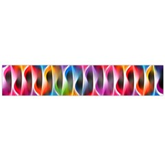 Rainbow Psychedelic Waves Flano Scarf (Large)