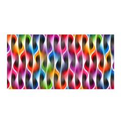 Rainbow Psychedelic Waves Satin Wrap