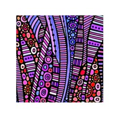 Stained Glass Tribal Pattern Small Satin Scarf (square)