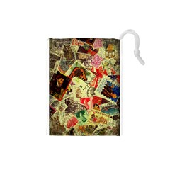 Stamps Drawstring Pouches (Small)