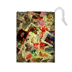 Stamps Drawstring Pouches (Large)