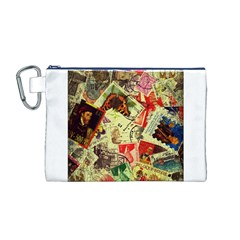 Stamps Canvas Cosmetic Bag (M)