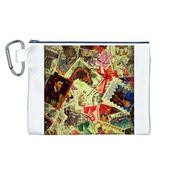 Stamps Canvas Cosmetic Bag (L)