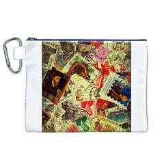 Stamps Canvas Cosmetic Bag (XL)