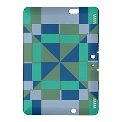 Green Blue Shapes	kindle Fire Hdx 8 9  Hardshell Case