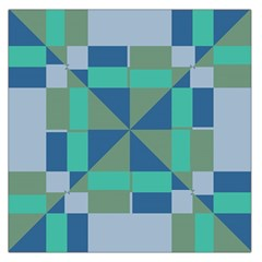 Green blue shapes Satin Scarf