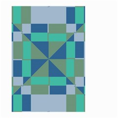 Green Blue Shapes Small Garden Flag