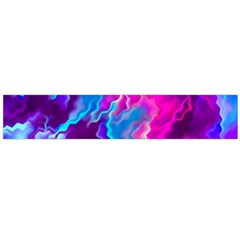 Stormy Pink Purple Teal Artwork Flano Scarf (Large)