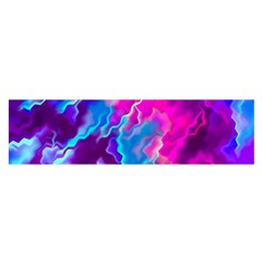 Stormy Pink Purple Teal Artwork Satin Scarf (oblong)