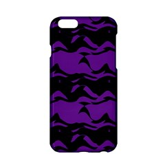 Mauve black waves Apple iPhone 6 Hardshell Case