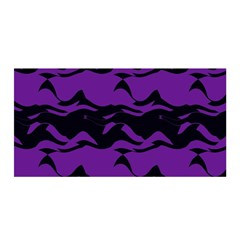 Mauve Black Waves Satin Wrap