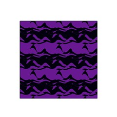 Mauve Black Waves Satin Bandana Scarf