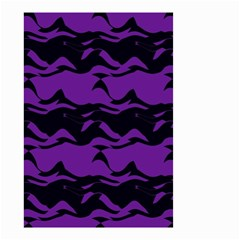 Mauve black waves Small Garden Flag