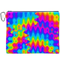 Amazing Acid Rainbow Canvas Cosmetic Bag (xxxl)