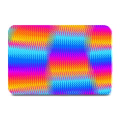 Psychedelic Rainbow Heat Waves Plate Mats