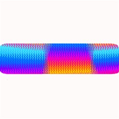 Psychedelic Rainbow Heat Waves Large Bar Mats