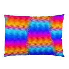 Psychedelic Rainbow Heat Waves Pillow Cases