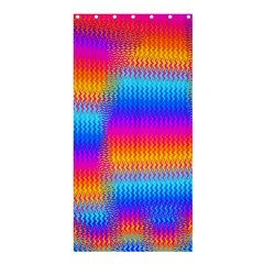 Psychedelic Rainbow Heat Waves Shower Curtain 36  X 72  (stall)