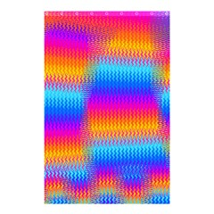 Psychedelic Rainbow Heat Waves Shower Curtain 48  X 72  (small)