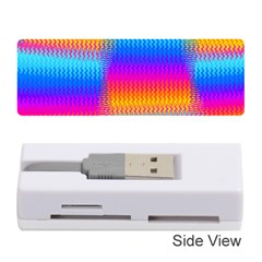 Psychedelic Rainbow Heat Waves Memory Card Reader (Stick)