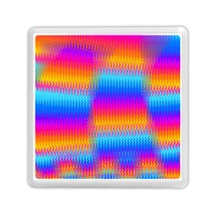 Psychedelic Rainbow Heat Waves Memory Card Reader (Square)